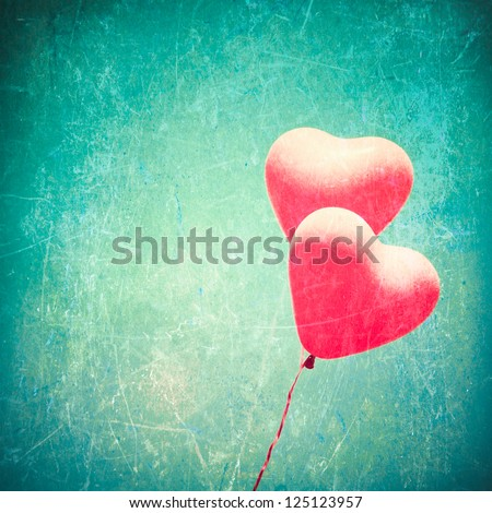 love heart balloon in vintage