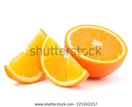 orange fruit half and two