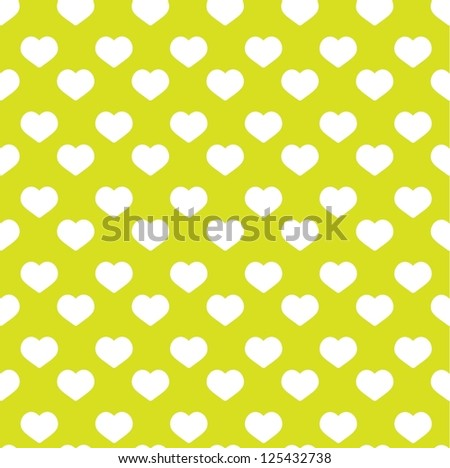 seamless green heart pattern