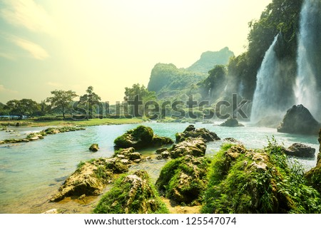 ban gioc   detian waterfall in