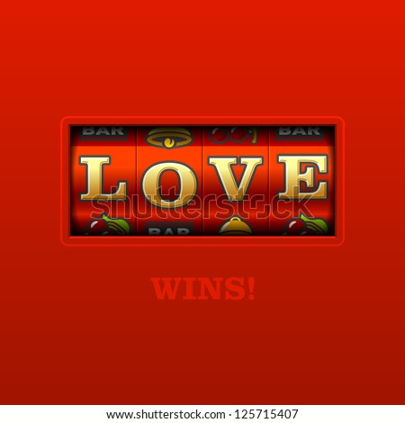 love wins  slot machine vector