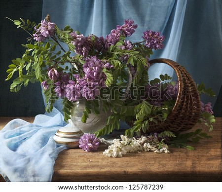 still life with flowers of