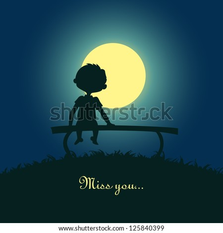 silhouette of a boy sitting