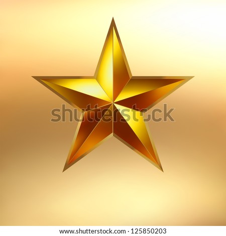 illustration of a gold star on