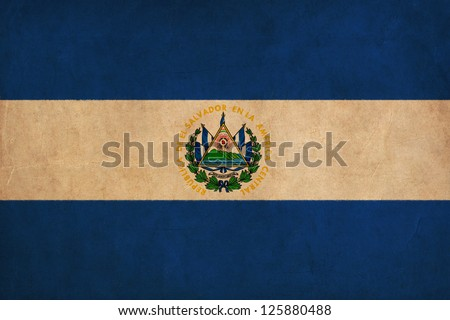 el salvador flag drawing
