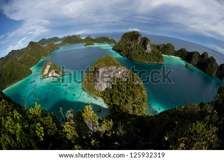 the remote limestone islands of