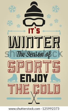 winter sports fun and