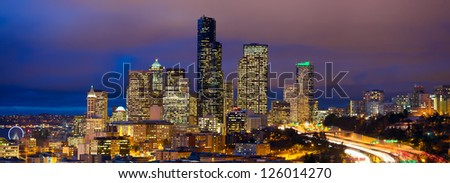 seattle skyline panorama at