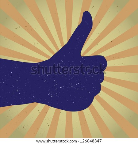 hand giving thumb up signal