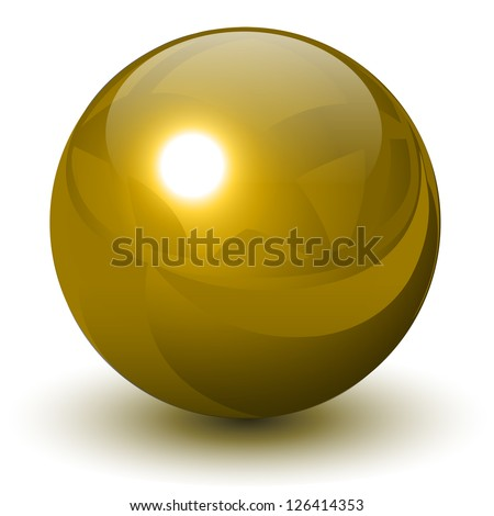 gold sphere  vector golden ball