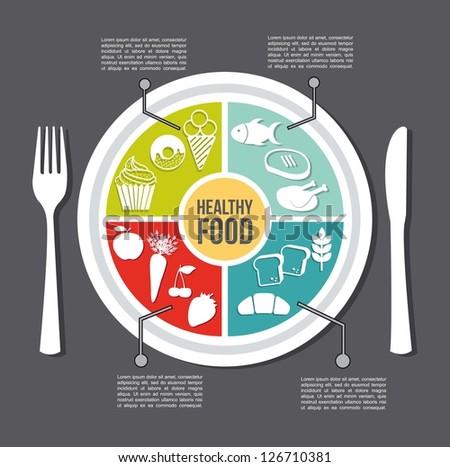 healthy food concept  vintage...
