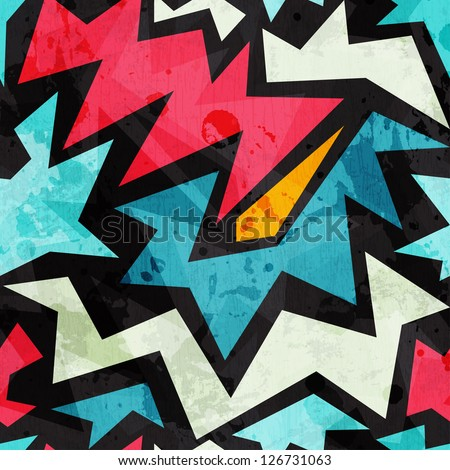 abstract graffiti seamless