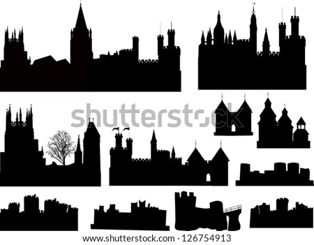 illustration with castles and