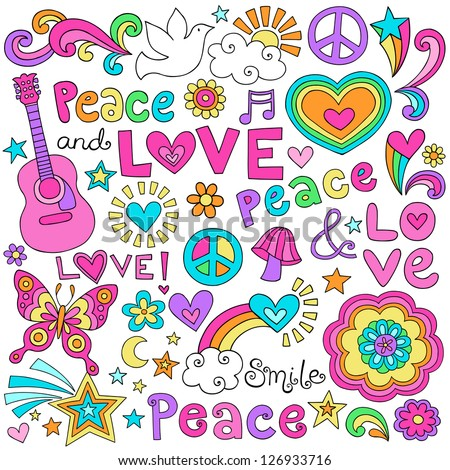 peace love and music flower