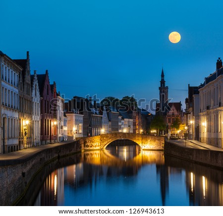 european medieval night city