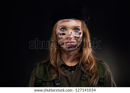 army girl  soldier woman wear