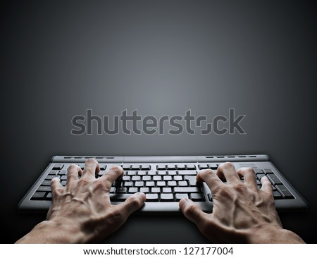hard typing on keyboard