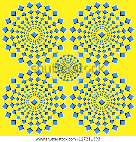 the optical illusion of