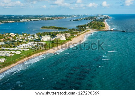 aerial view of atlantic ocean