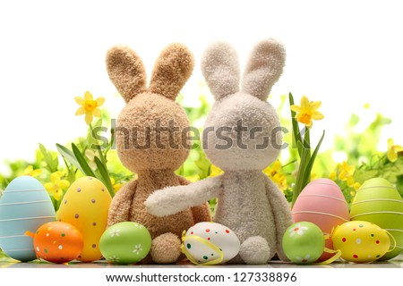 easter decoration with sugar