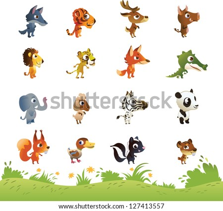 large collection of cartoon