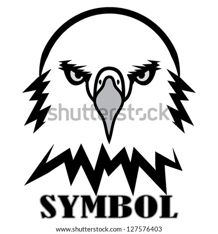 eagle outline black white
