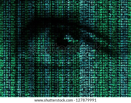 digital eye reads the encrypted
