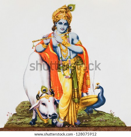 image of hindu god krishna