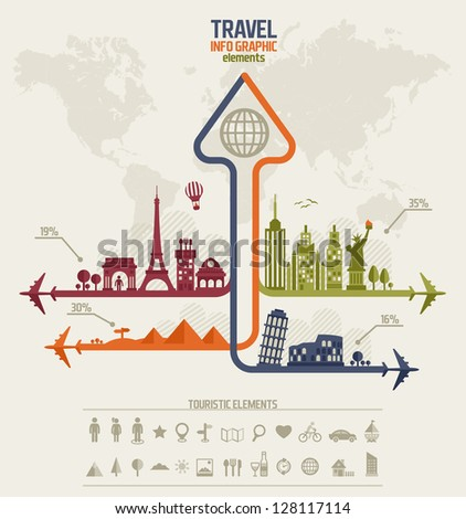travel info graphic elements