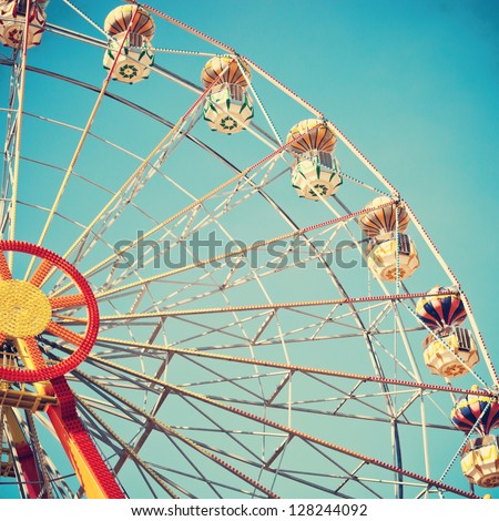 vintage retro ferris wheel on
