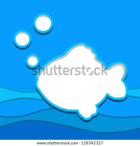 fish background with template