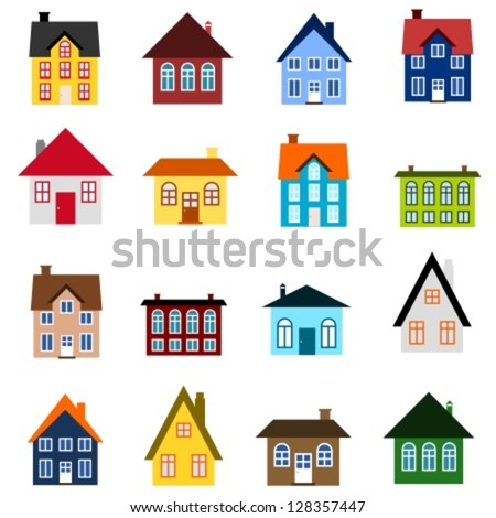 house set   colourful home icon