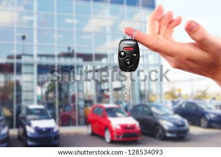 new car keys driving and