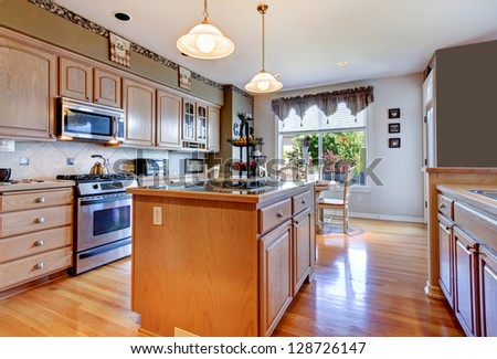 large beautiful white kitchen