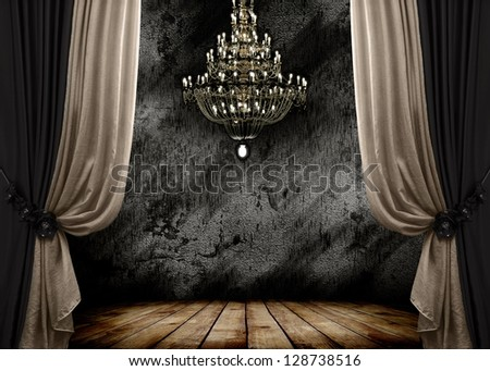 image of grunge dark room