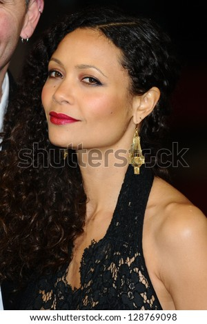 thandie newton arriving for the