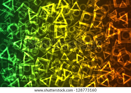 abstract colorful signs bokeh