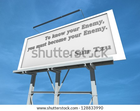 a billboard with to know your