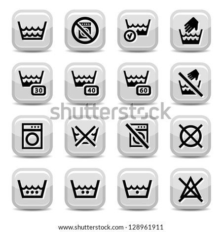 laundry icons for web and