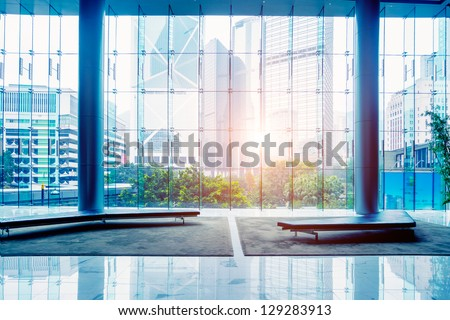 glass wall in the office