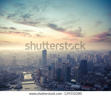 a bird's eye view of shanghai