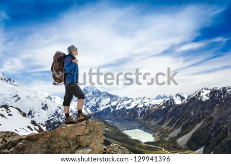hiker looking at the horizon