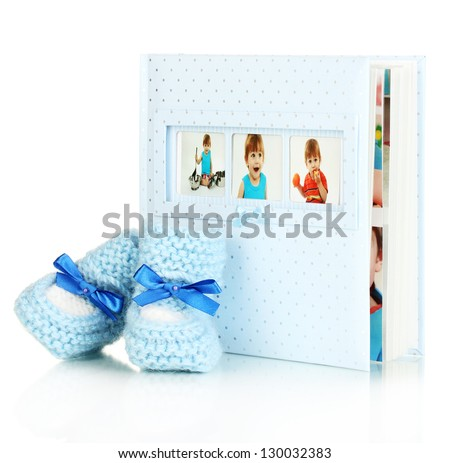 baby photo album isolated on
