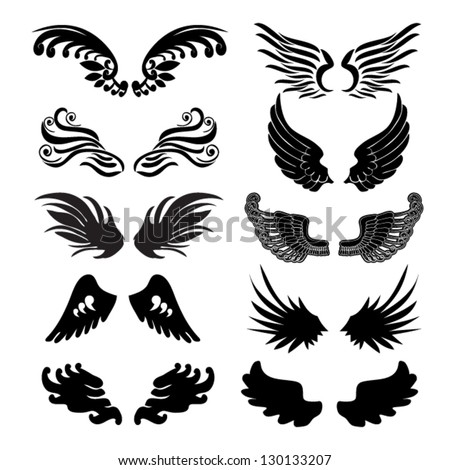 wings set in vector
