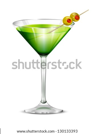 cocktail in a glass glass with
