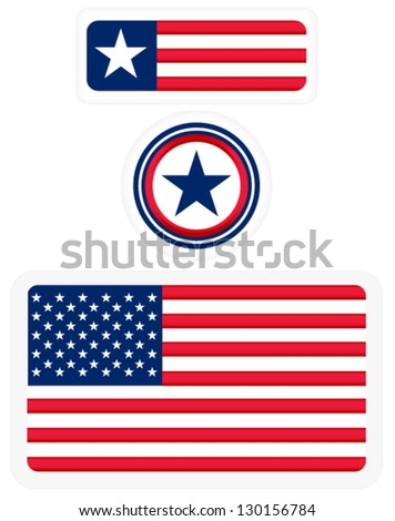 american flags and a badge   3