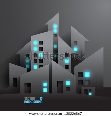 abstract 3d buildings