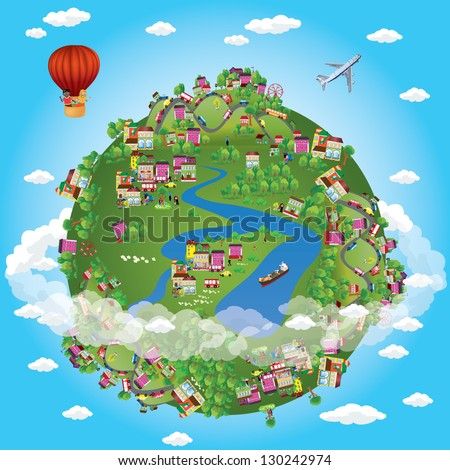 miniature globe vector