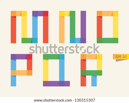 colored sticky notes alphabet