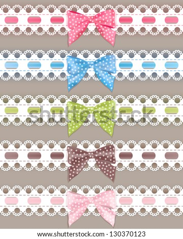 set colorful ribbon vector